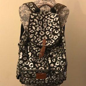 VS PINK leopard print backpack